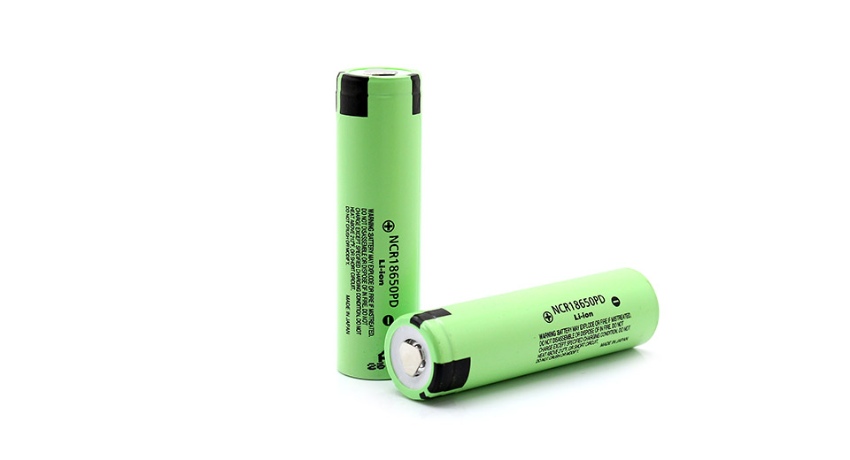 2 Panasonic 18650 batteries