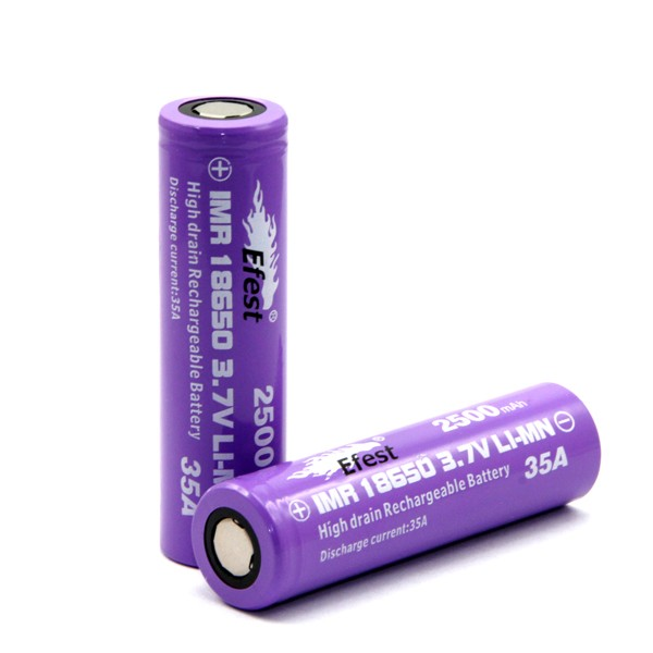 Efest purple 18650 batteries