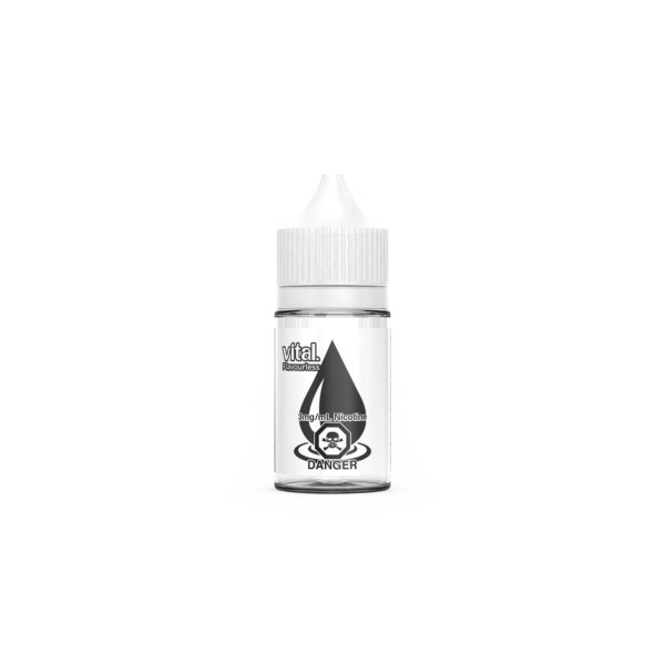 A bottle of Flavorless E-Liquid by Vital Brand