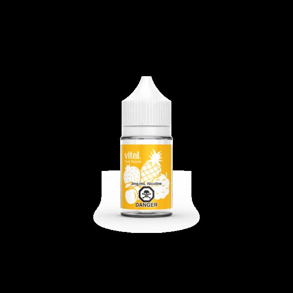A bottle of Fruit Punch E-Liquid by Vital Brand