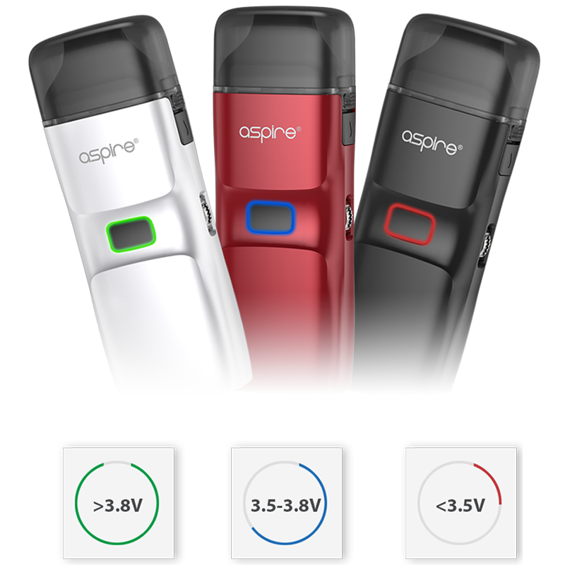 Aspire Breeze NXT Battery level indicator