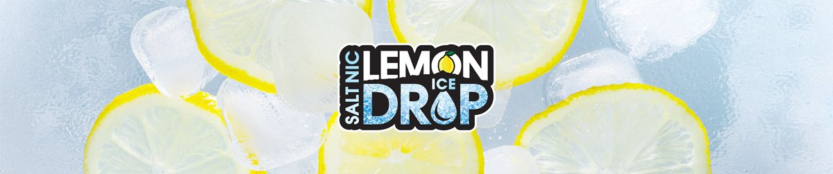 Lemon Drop Ice Salt E-Liquid Banner