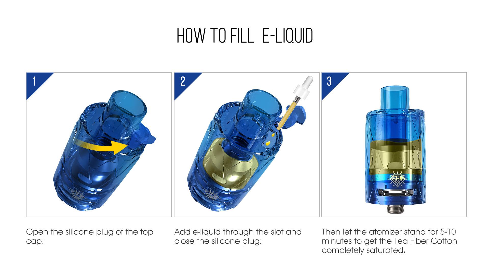 Freemax GEMM Disposable Tank refill diagram