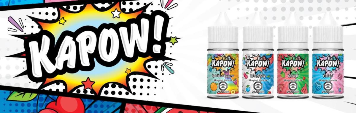 Kapow Salt E-Liquid Banner