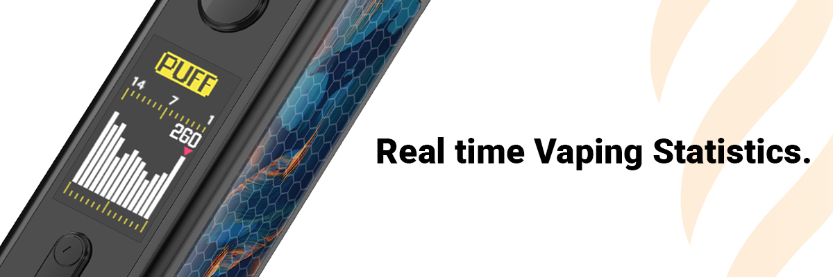 VooPoo VINCI Intelligent Real Time Puff Counter Chart