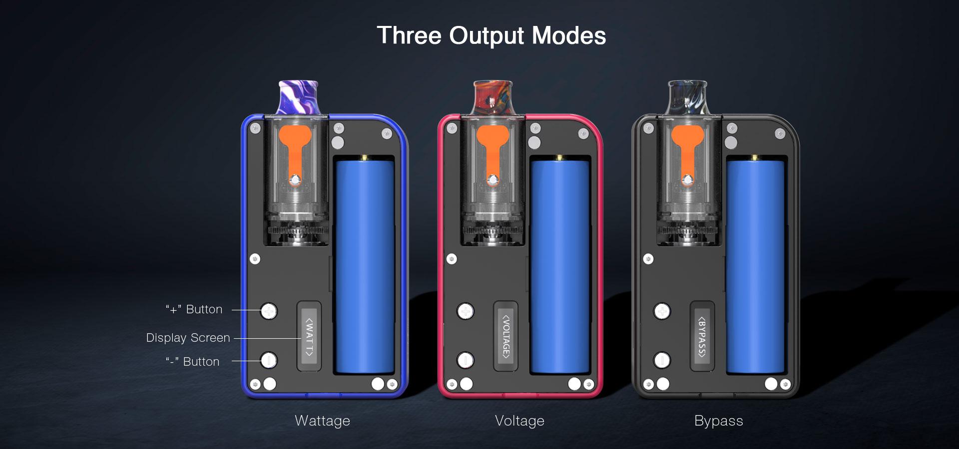 Aspire MULUS Pod Vape Power Modes