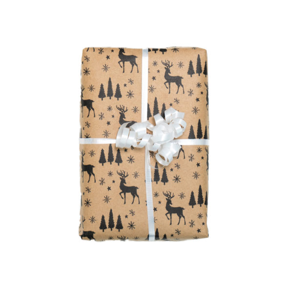 Into the woods white ribbon gift wrap