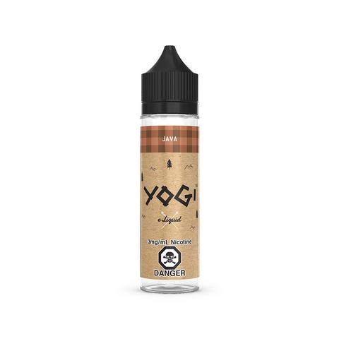 A 60mL bottle of the Java E-Liquid by Yogi. Smooth blend of chocolate chip granola bar!