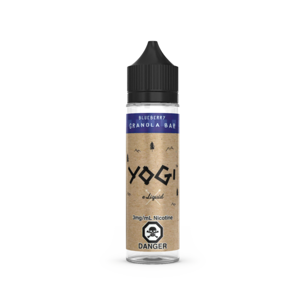 A 60ML Bottle of Blueberry Granola E-Liquid by Yogi