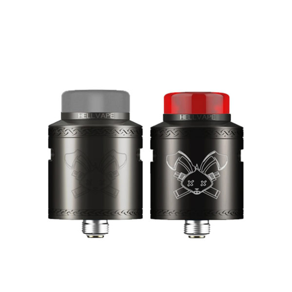 Black and Gun Metal versions of the Dead Rabbit V2 RDA by Hellvape
