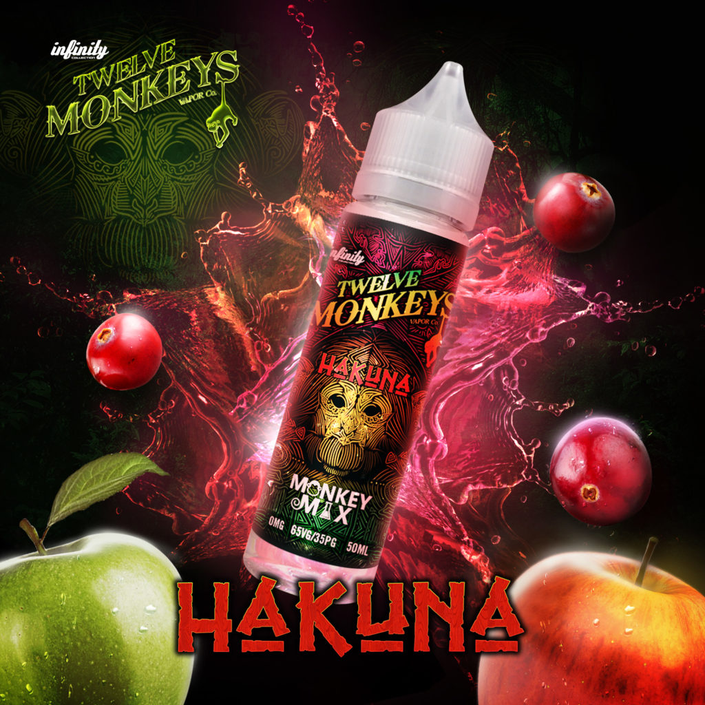 Hakuna Twelve Monkeys E-Liquid Artwork