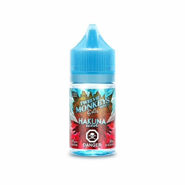 Hakuna Iced SALTS Twelve Monkeys E-Liquid 30mL