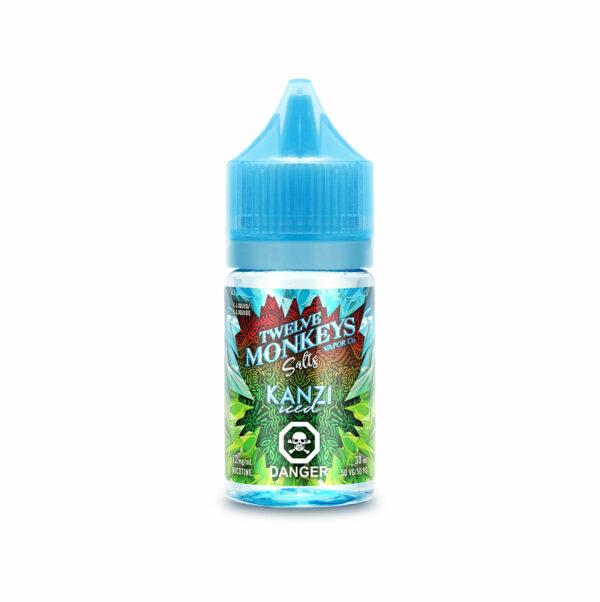 30mL bottle of Kanzi Iced SALTS - Twelve Monkeys