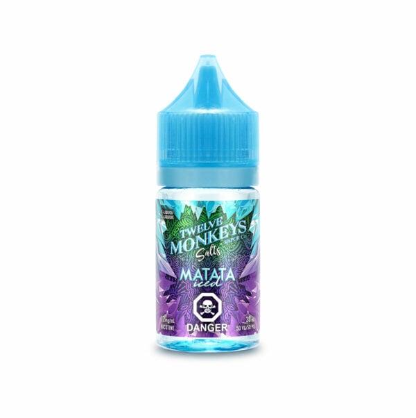 30mL bottle of Matata Iced SALTS - Twelve Monkeys