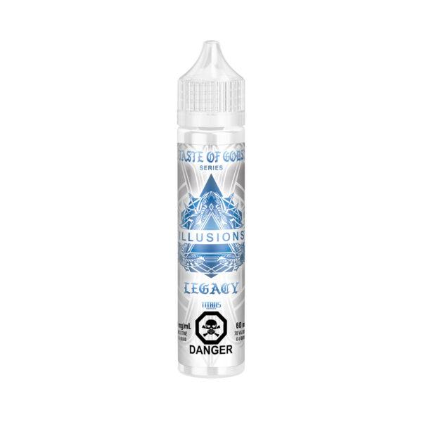 60ML bottle of Taste Of Gods Legacy E-Liquid by Illusions Vapor