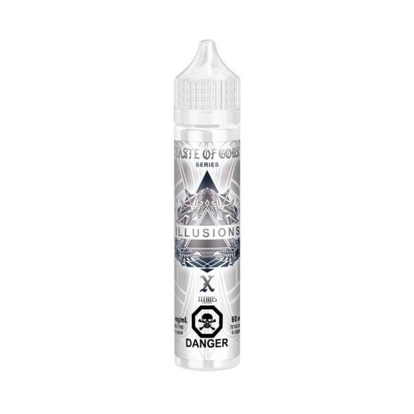 60ML bottle of Taste of Gods X E-Liquid by Illusions Vapor