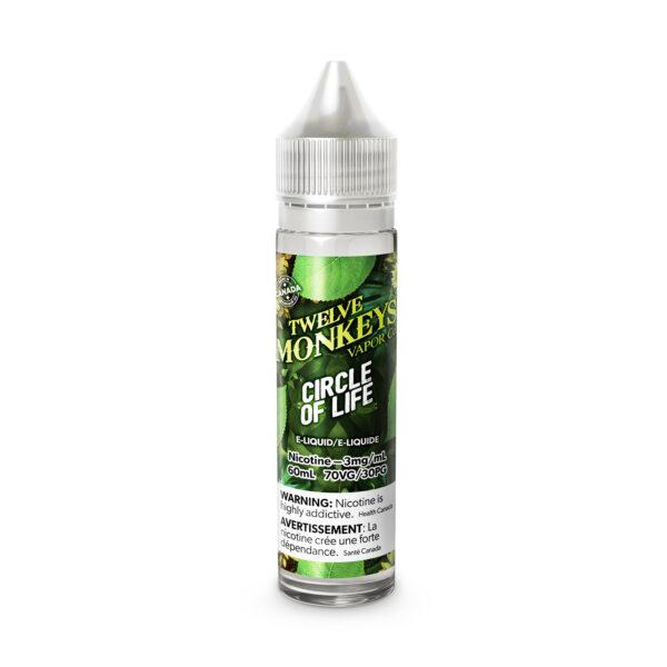 60ML bottle of Circle of Life Twelve Monkeys E-Liquid