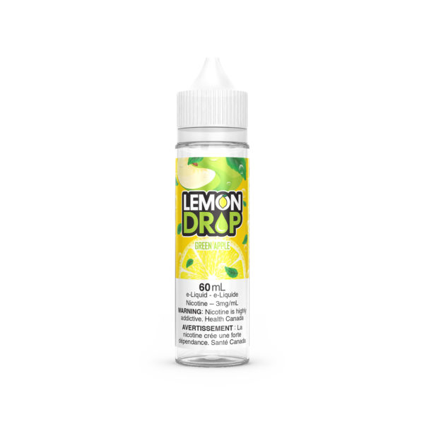 60ml bottle of the Green Apple Lemon Drop E-Liquid