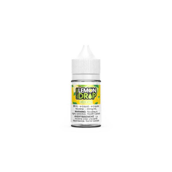 30ml bottle of Green Apple Lemon Drop SALT E-Liquid