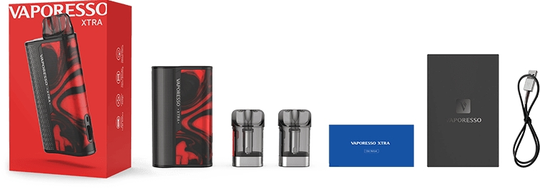 Kit contents of the Vaporesso XTRA