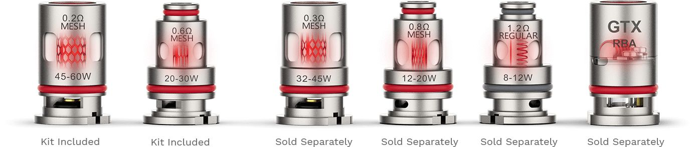 Vaporesso GTX Coil options