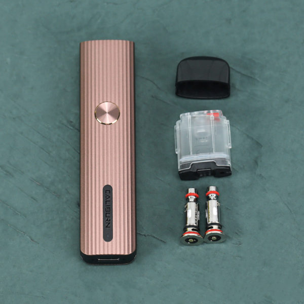 Disassembled view of the UWELL Caliburn G Pod Vape