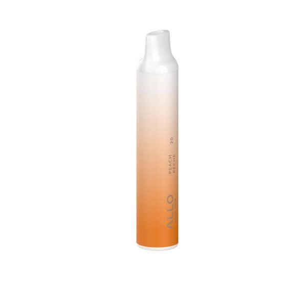 Peach flavored ALLO 1500 puff disposable vape